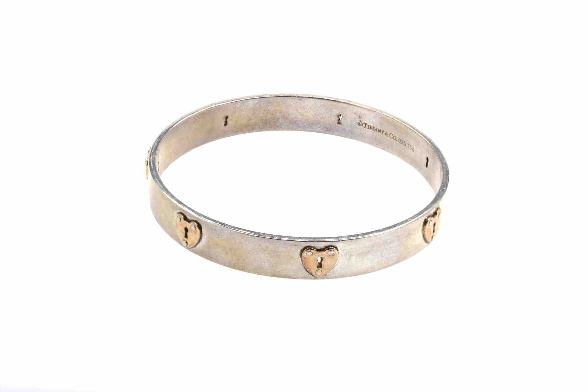 bracelet signé or blanc 18k