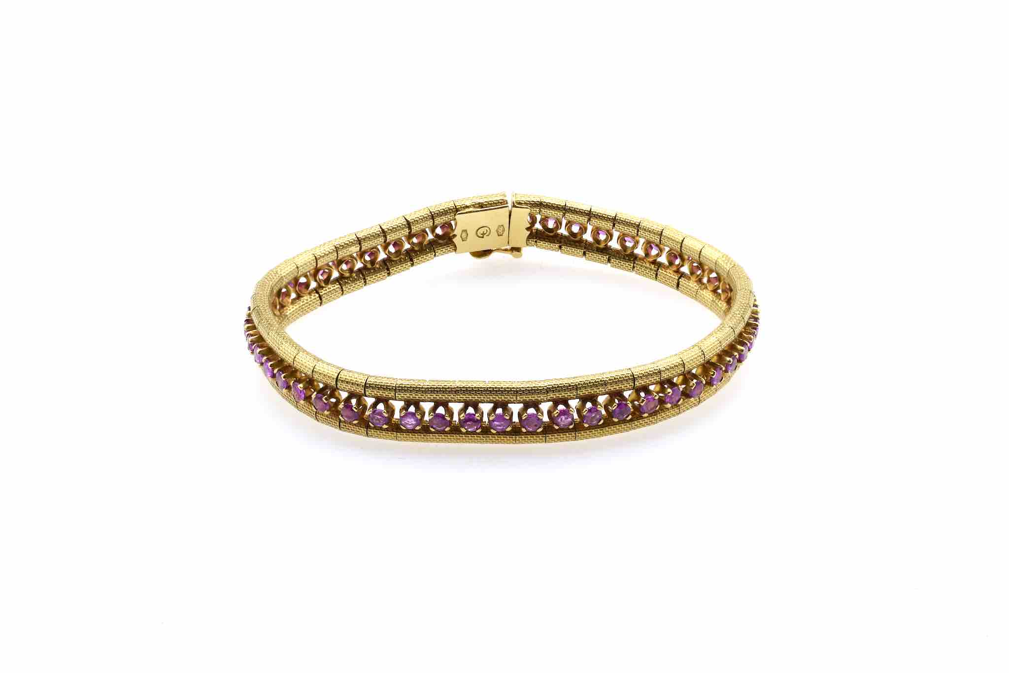 bracelet rubis or jaune 18k