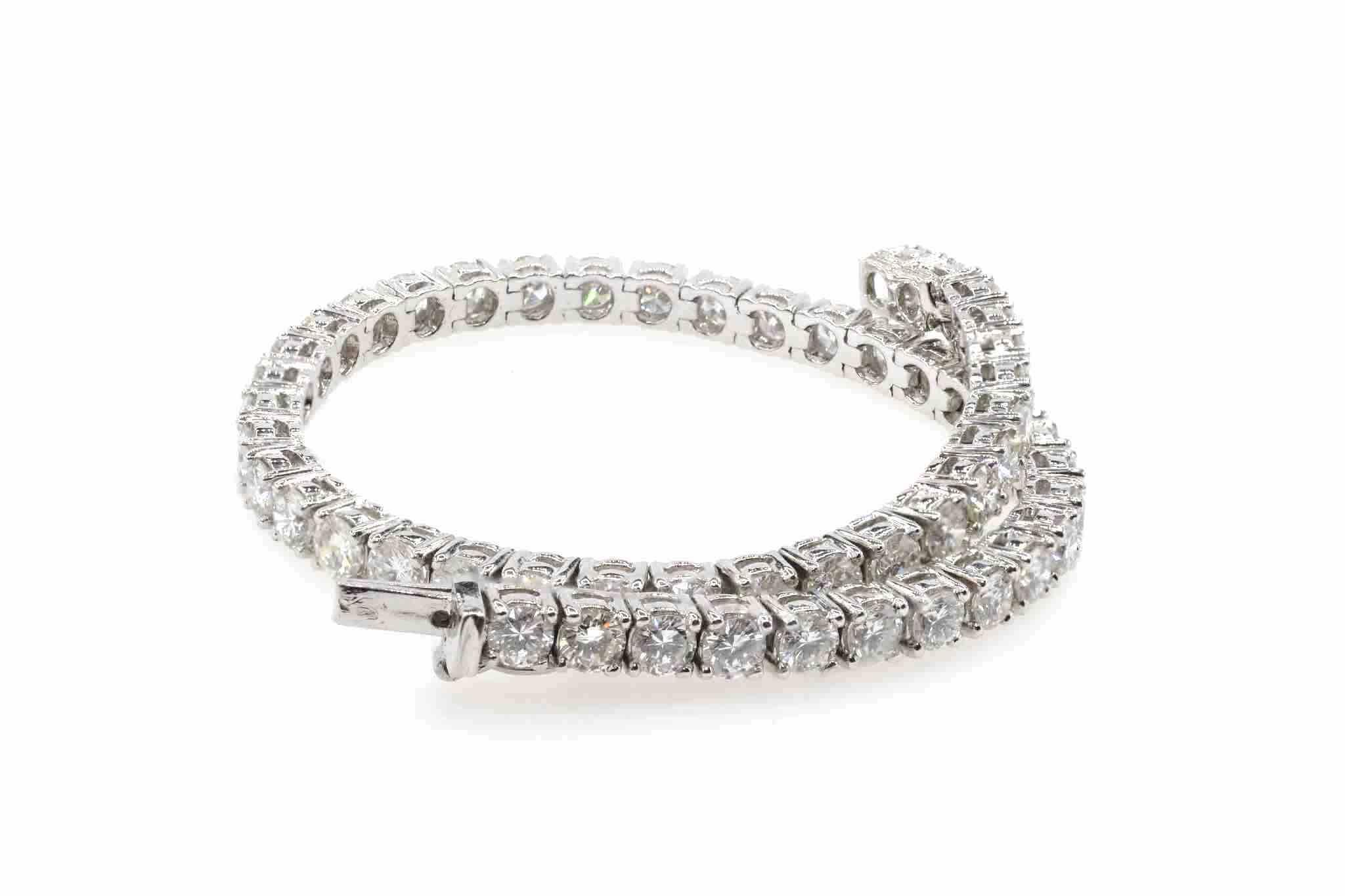 bracelet rivière de diamants ancien