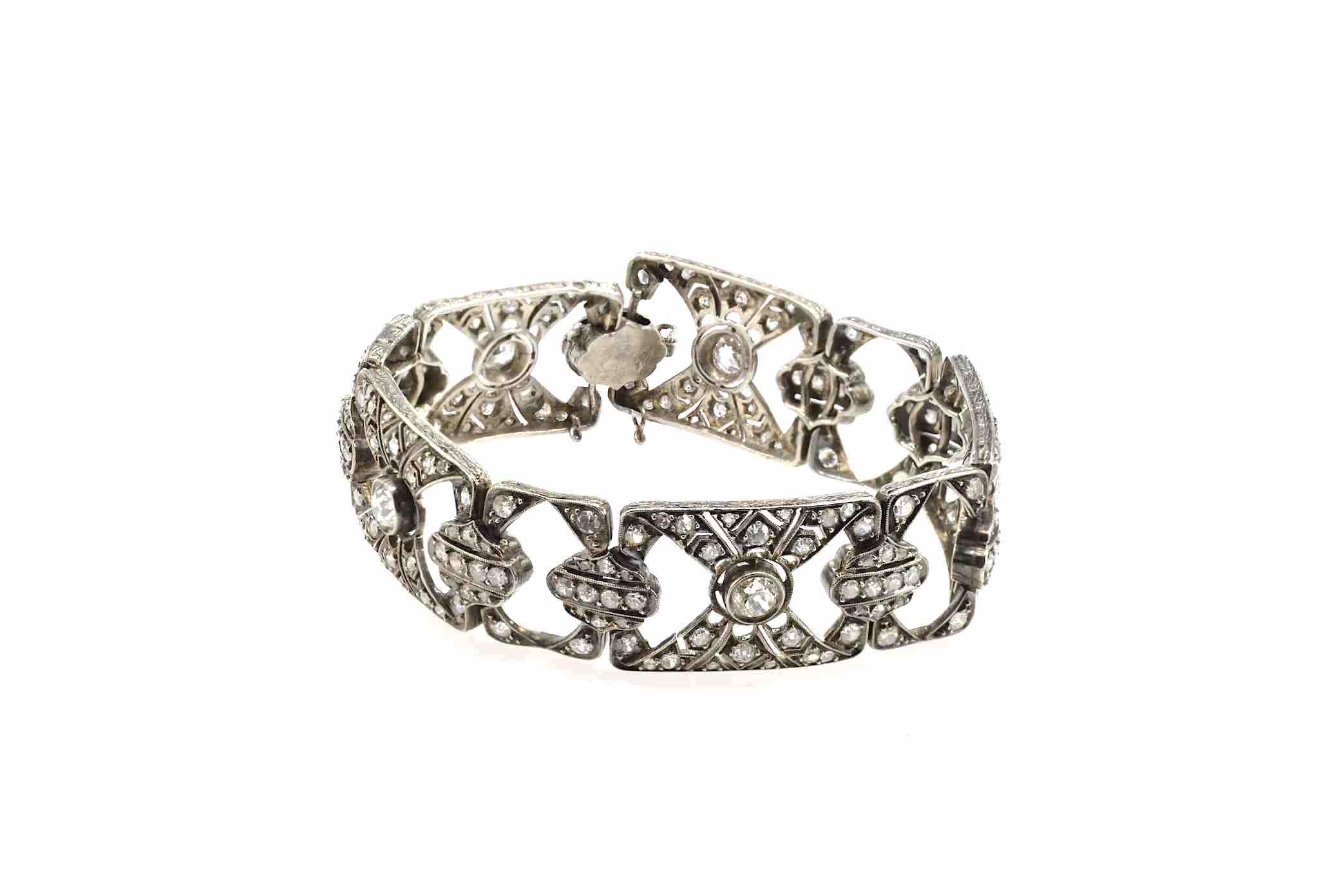 bracelet ancien diamants