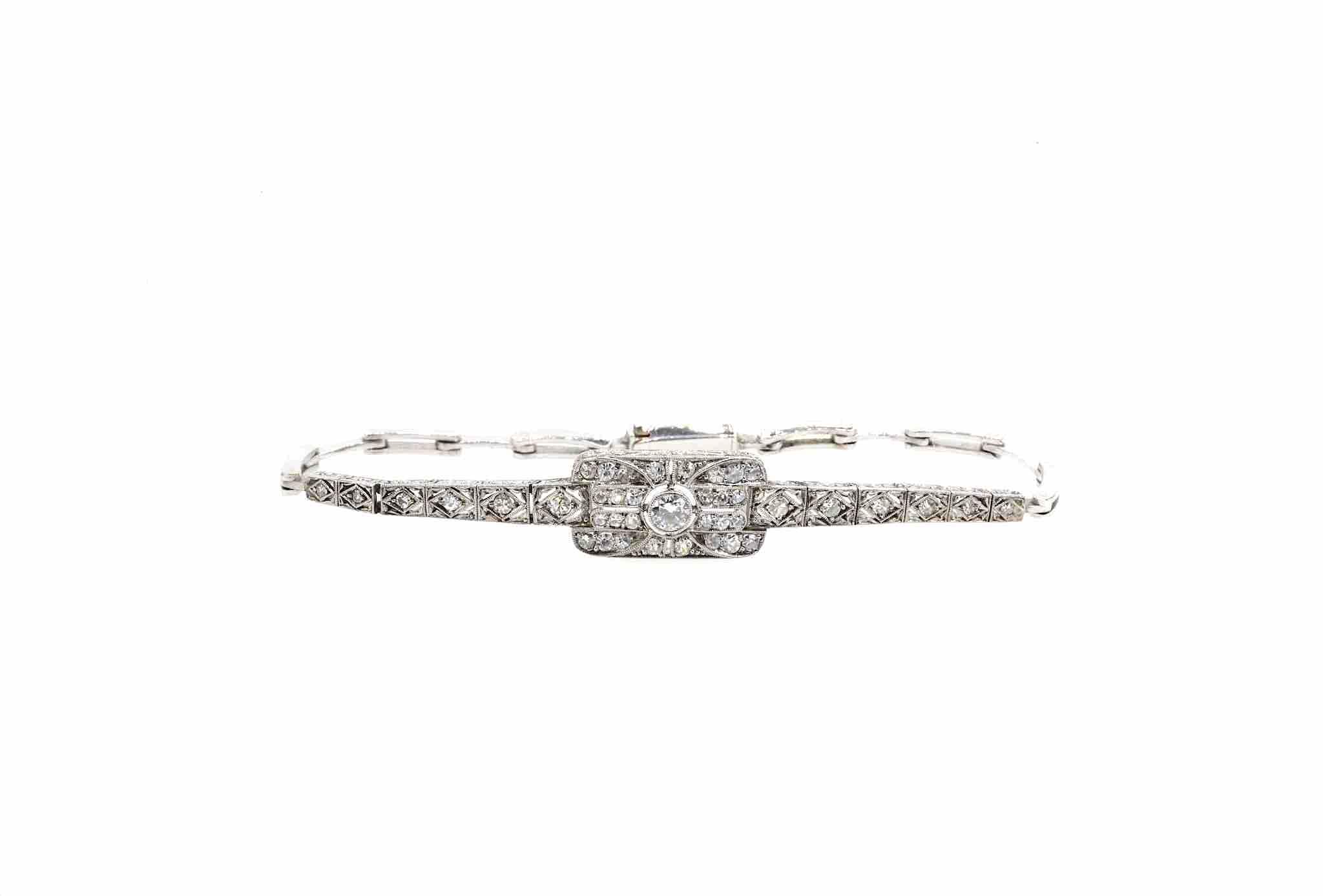 bracelet ancien diamants or 18k