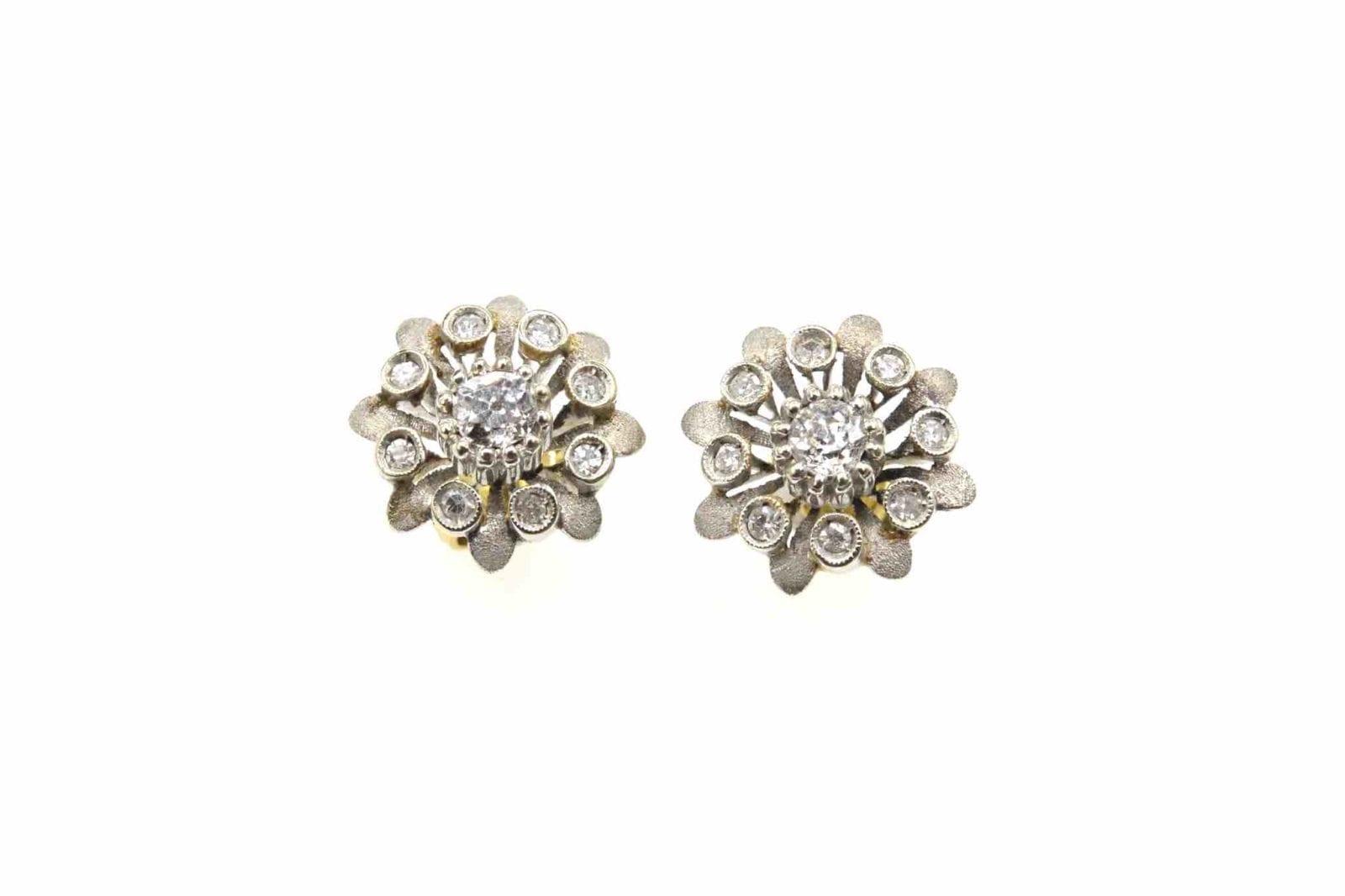Boucles or blanc diamants