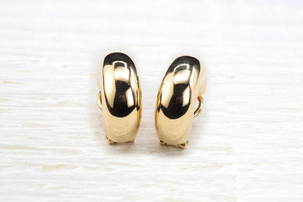 Boucles d'oreilles or jaune 18k
