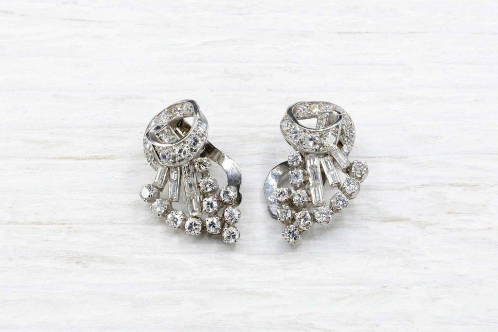 Boucles d'oreilles diamants vintage