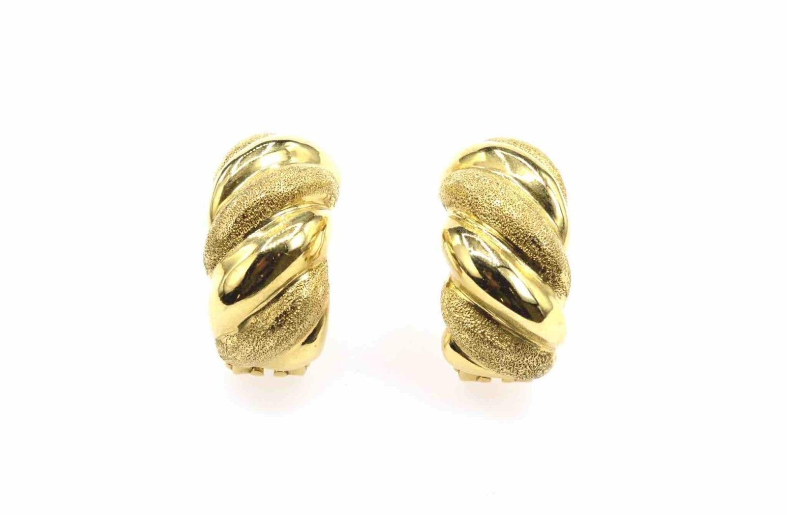 Boucles d'oreilles en or 18k d'occasion