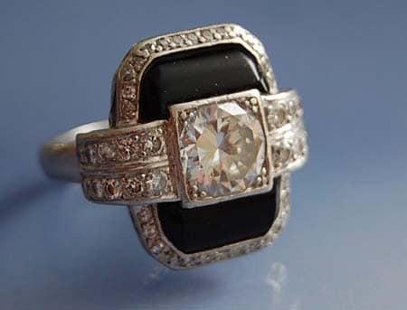 Souvent Les bijoux art deco et les bagues diamants art deco CG42