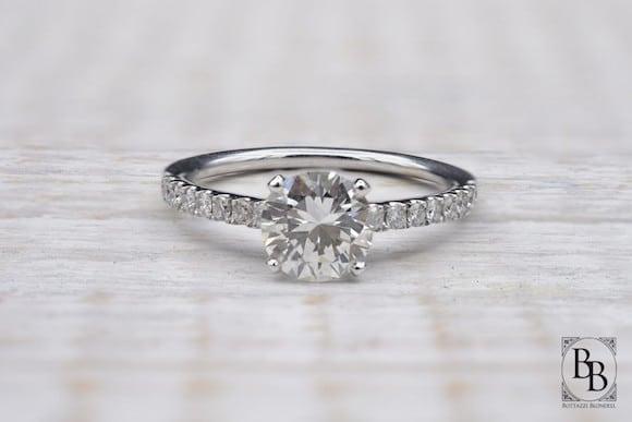 Solitaire diamant fiançailles