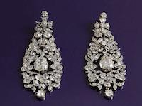 Boucles d'oreilles 19e siècle serties de diamants, bijoux d'occasion