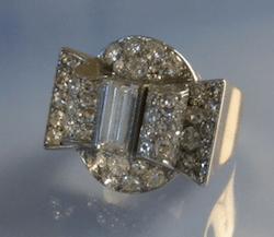 achat bijoux d'occasion, bague tank diamants