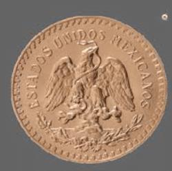achat lingots d'or pièces d'or, pièces 50 pesos