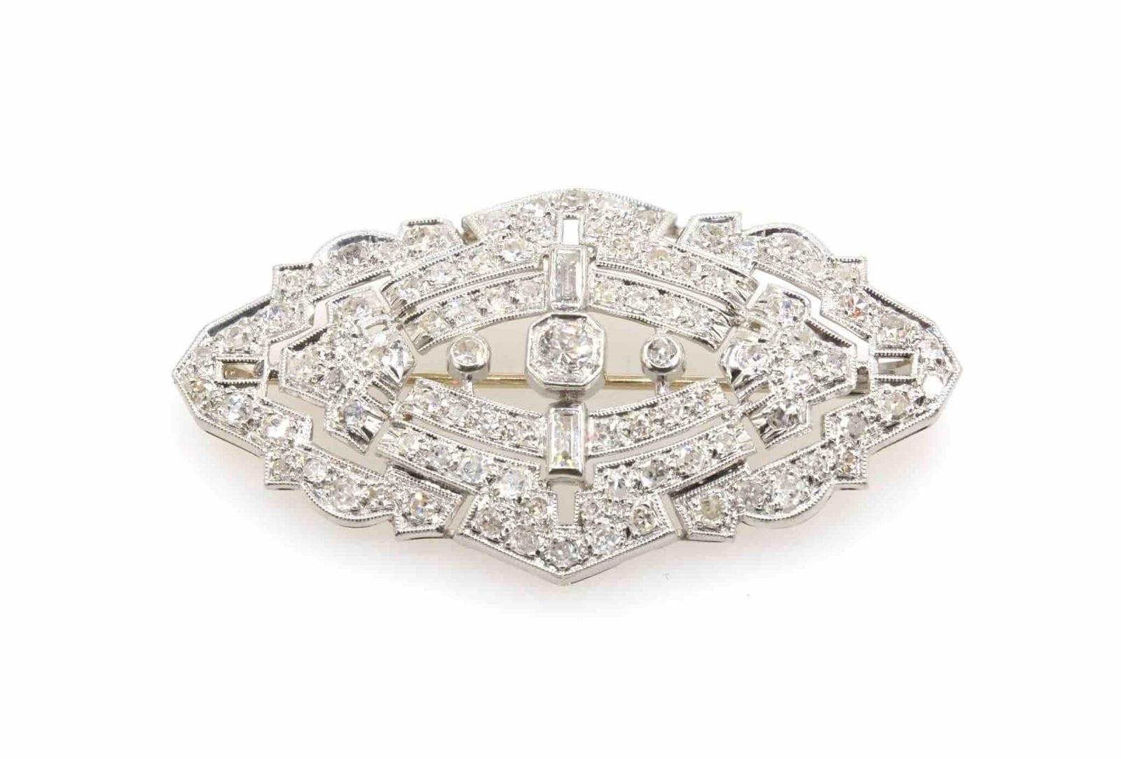 broches diamants des années 30