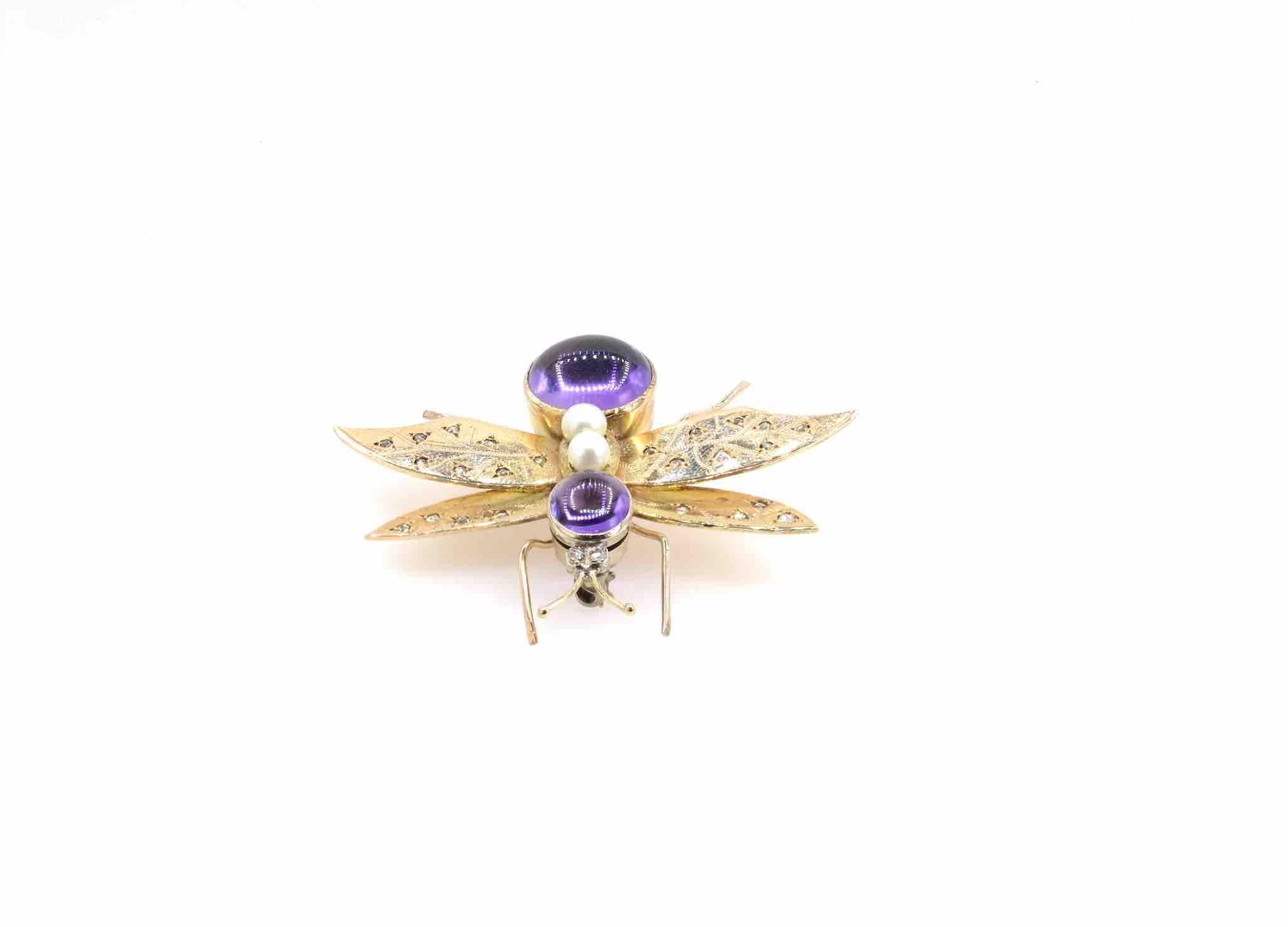broche insecte ancienne