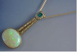 Collier art deco diamants opale