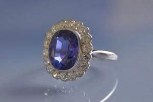 bagues anciennes saphirs diamants