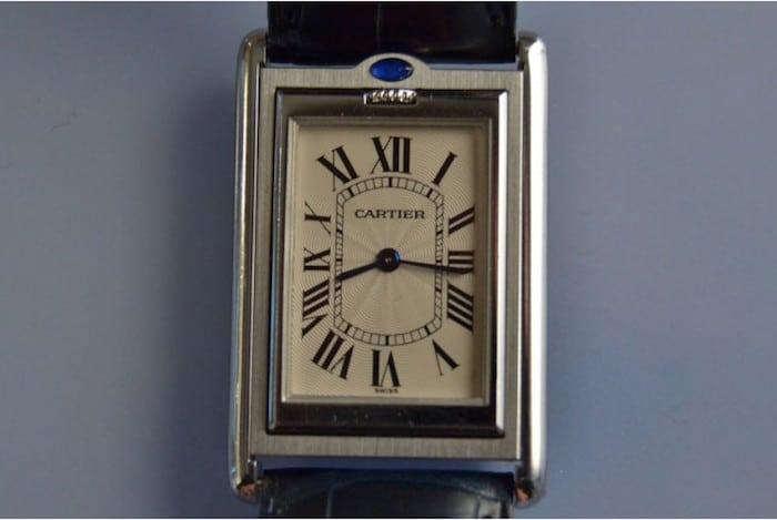 montre d'occasion Cartier basculante