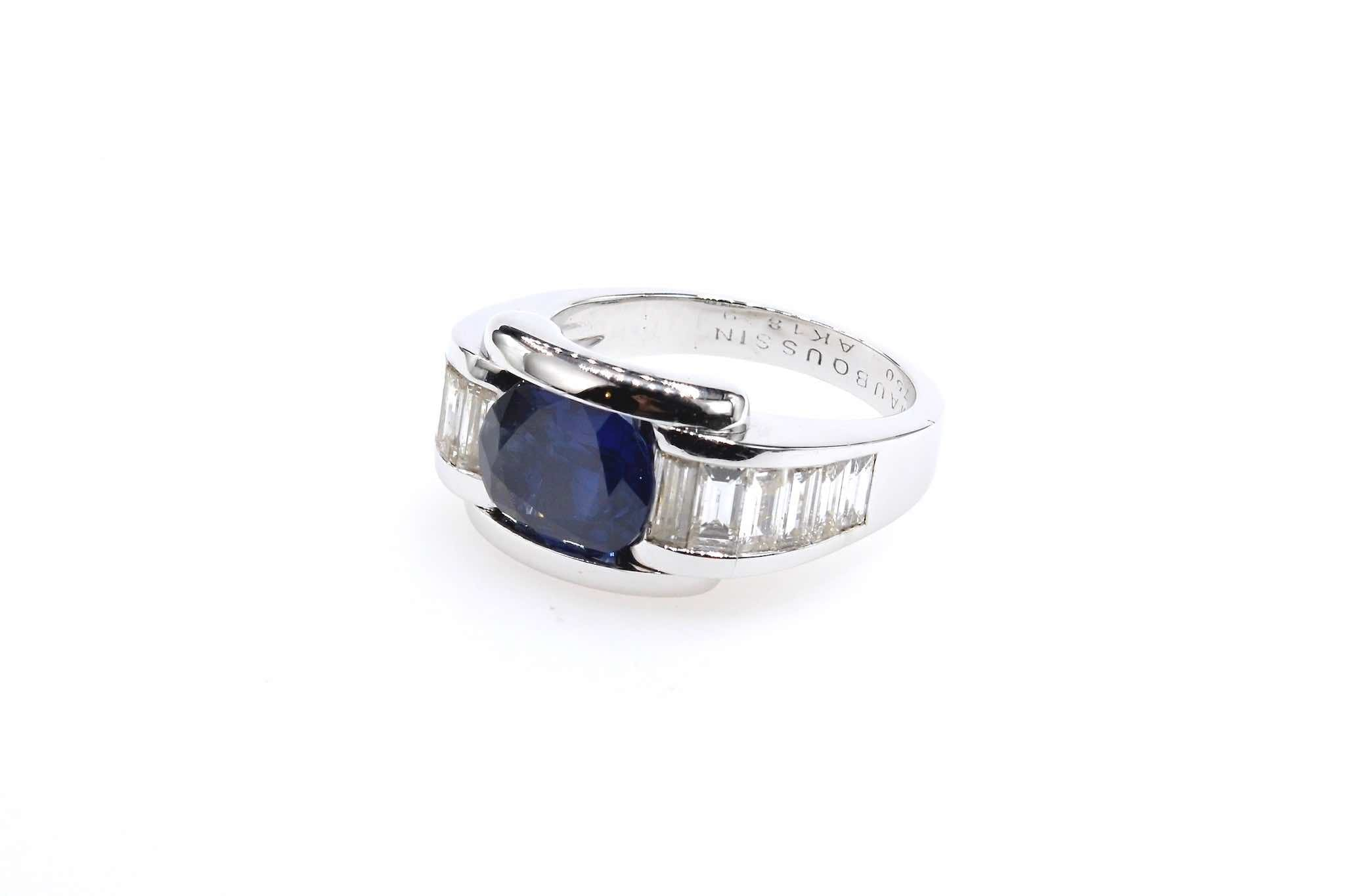 achat Bague Mauboussin saphir diamants