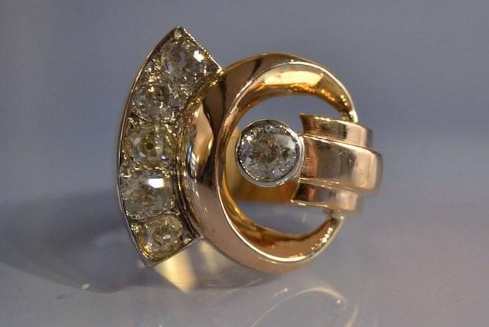 bague diamants 1940