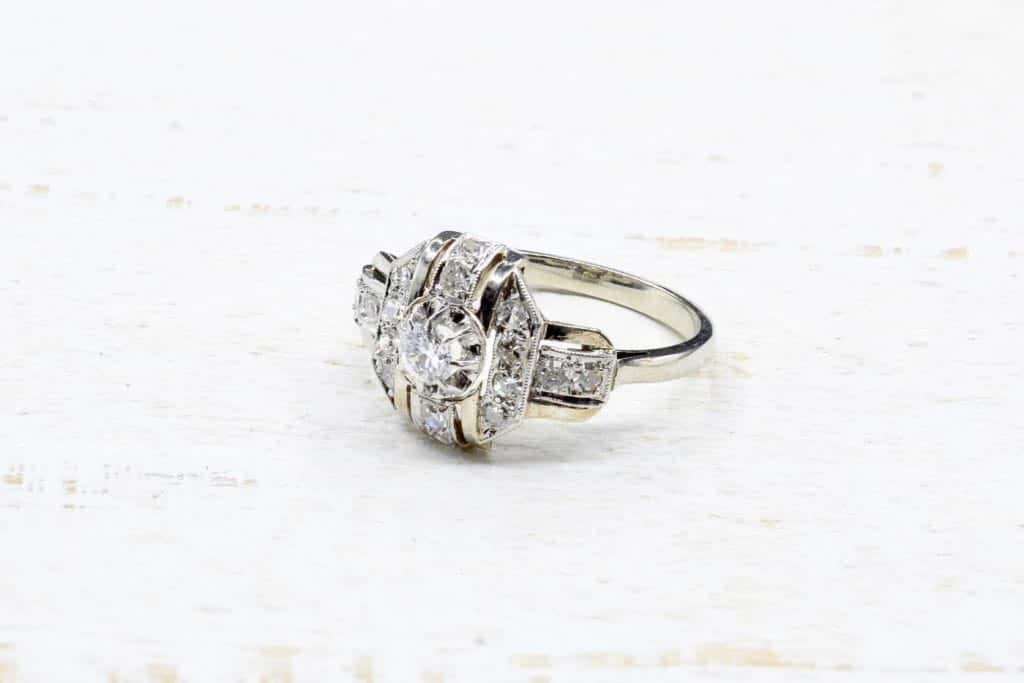bague art deco diamants
