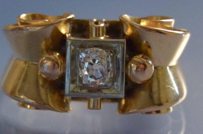 bijoux tank diamants 1950