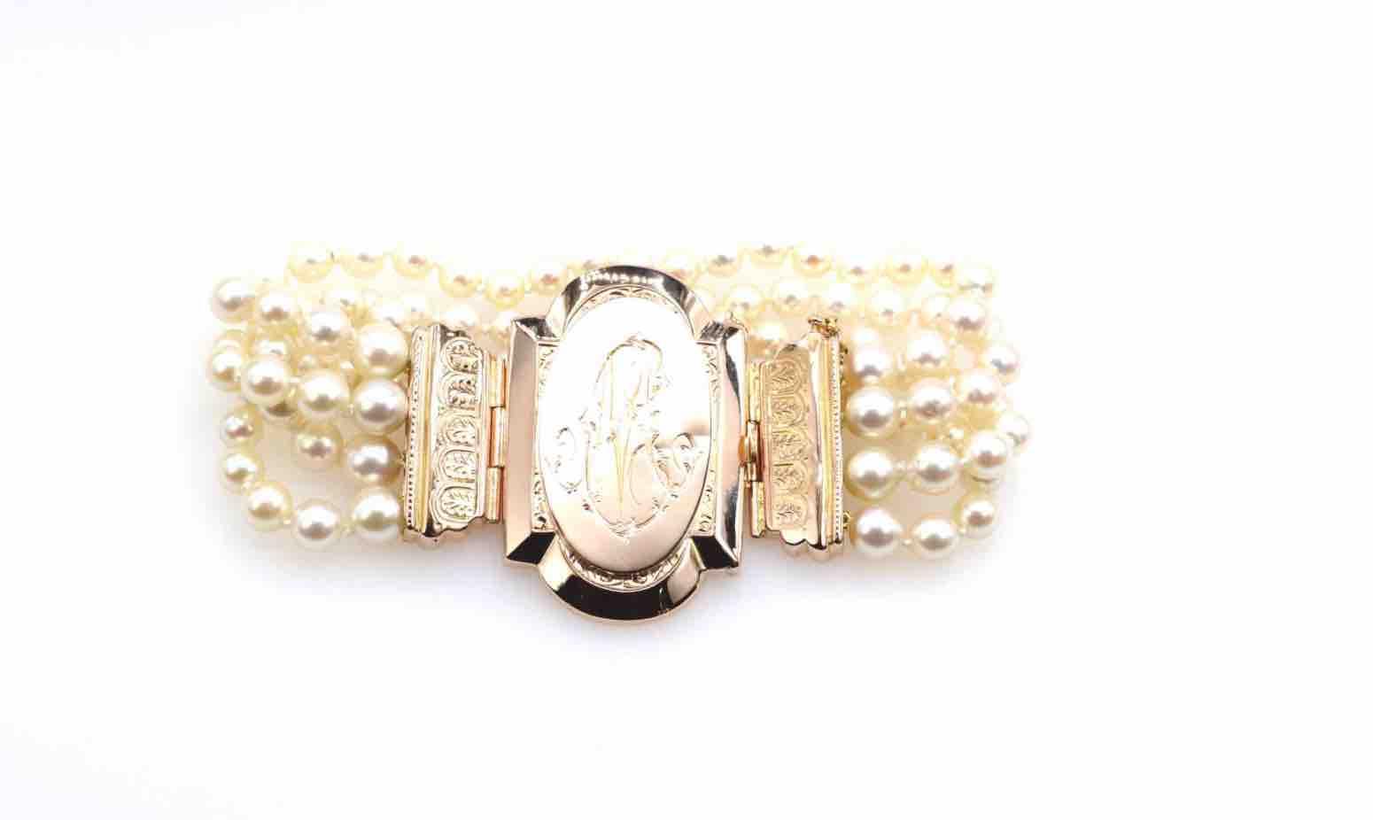 revendre Bracelet perles 19e