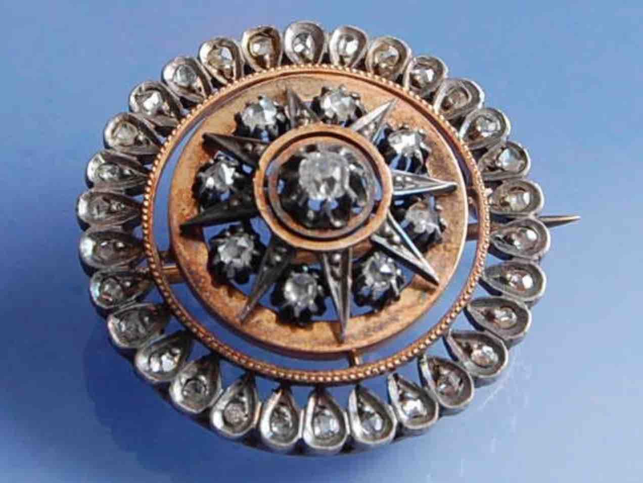 achat Broche diamants 19e siecle