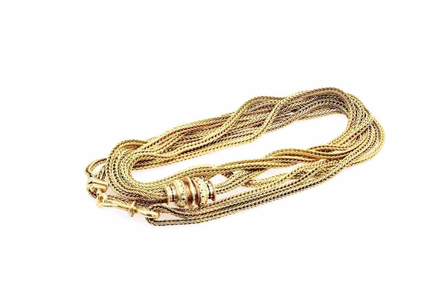Chaine en or 19e à vendre