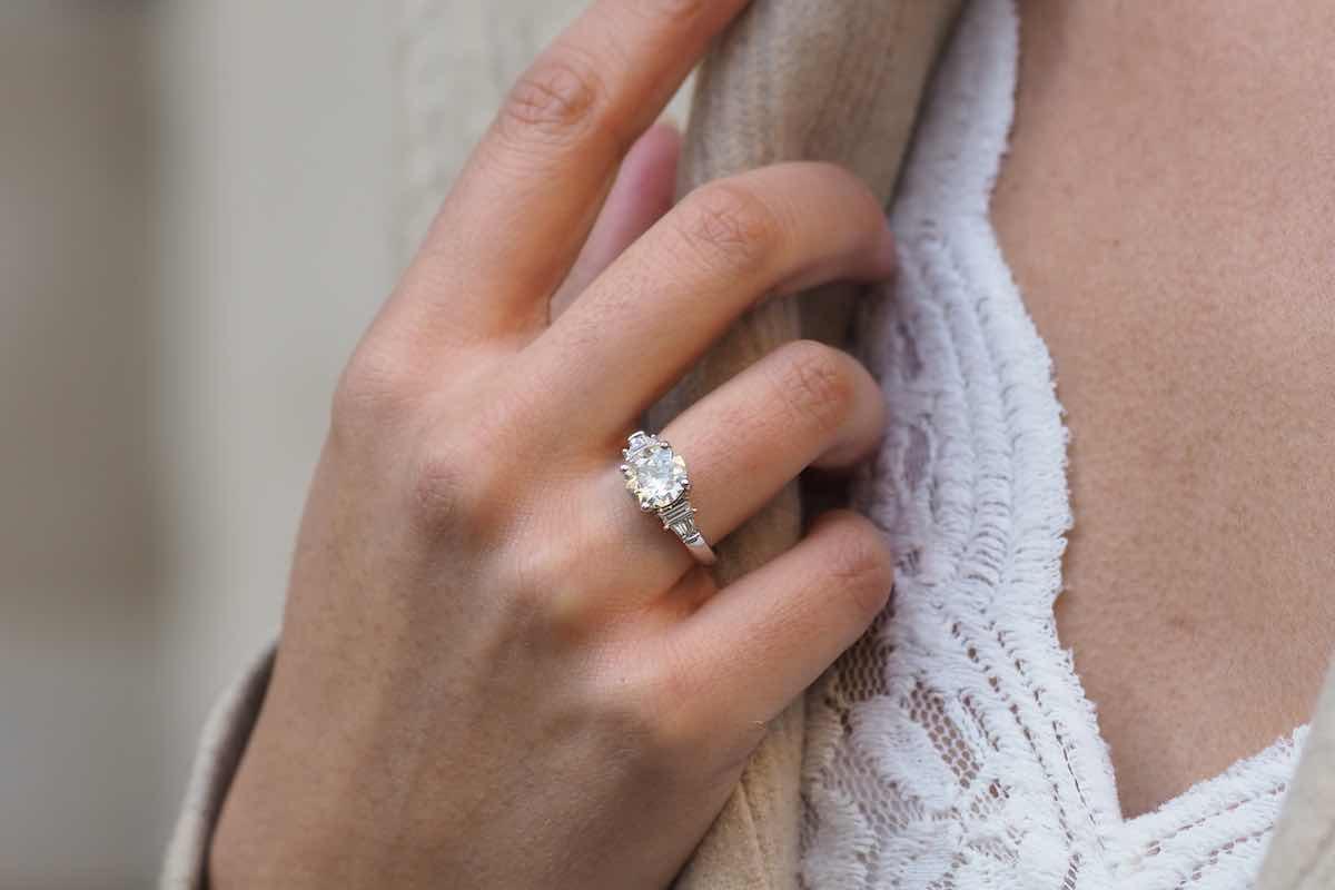 solitaire fiançailles