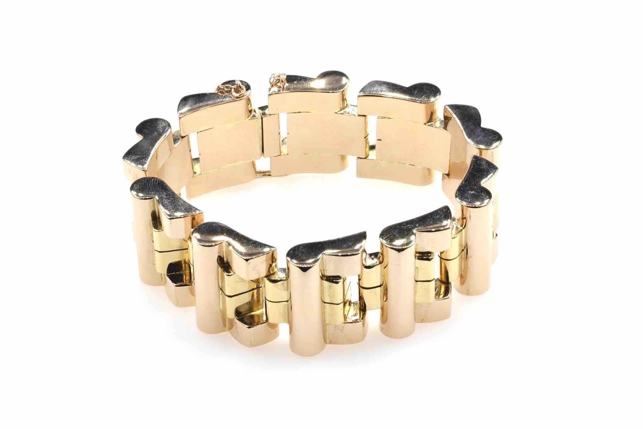 bracelet tank en or