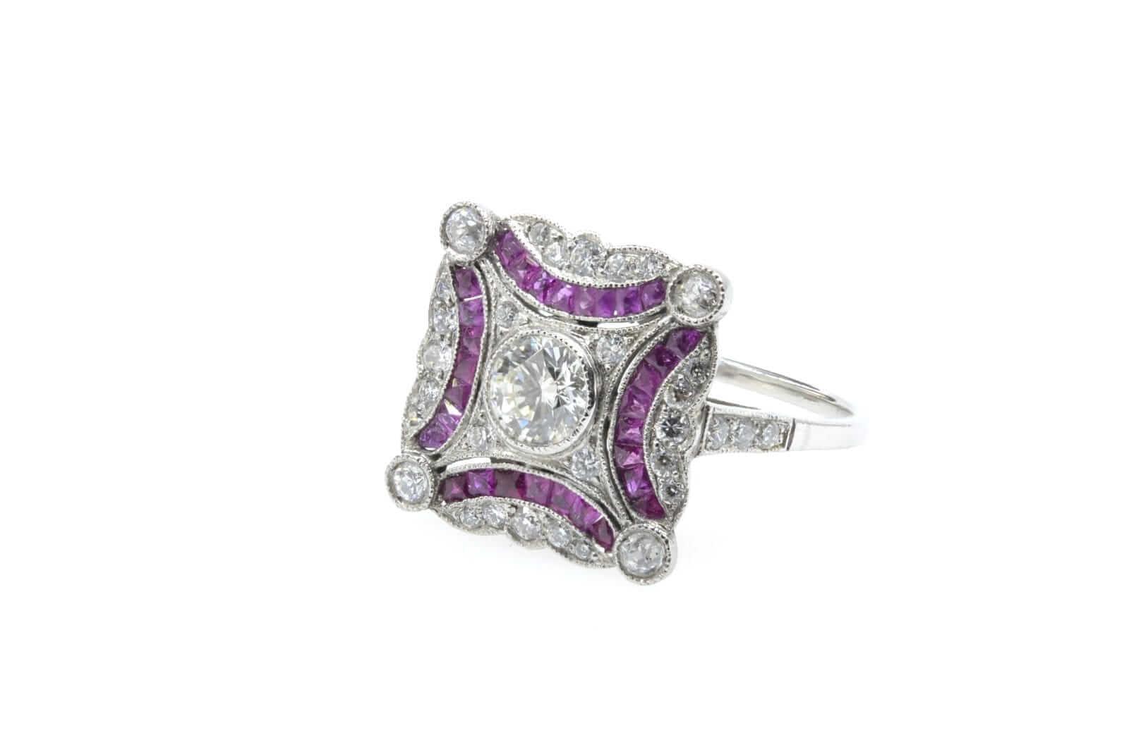 rachat bague rubis diamants art deco