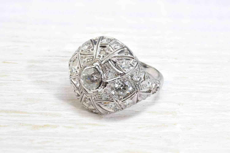 bague ancienne diamants anciens