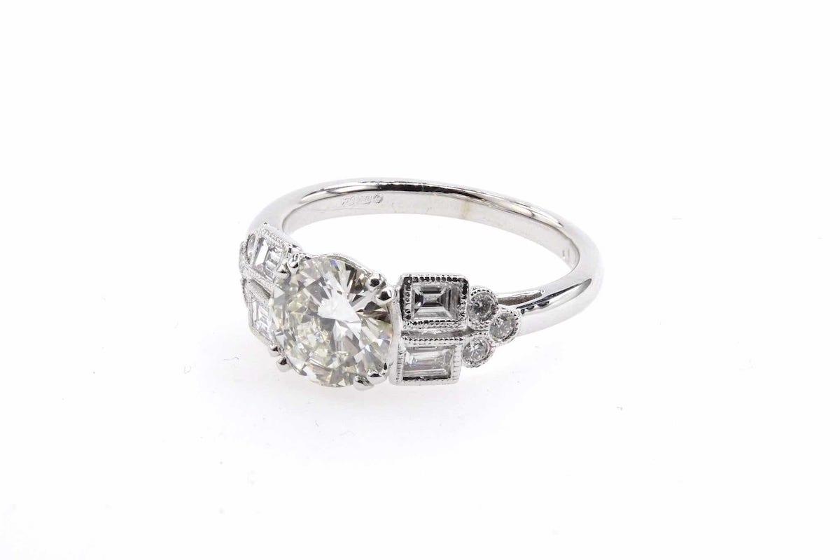 creation bague mariage diamants brillants