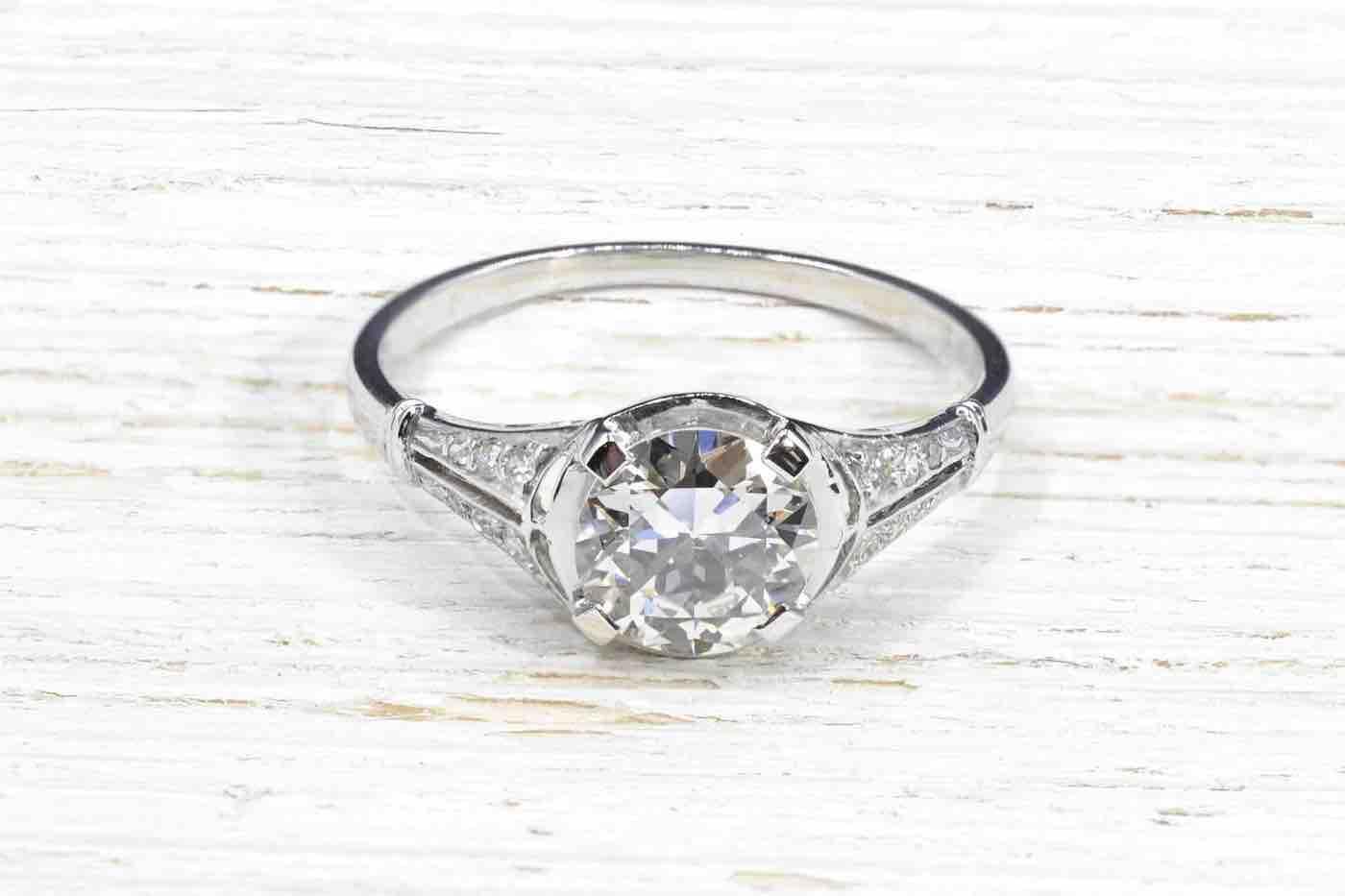 achat bague diamants ancienne