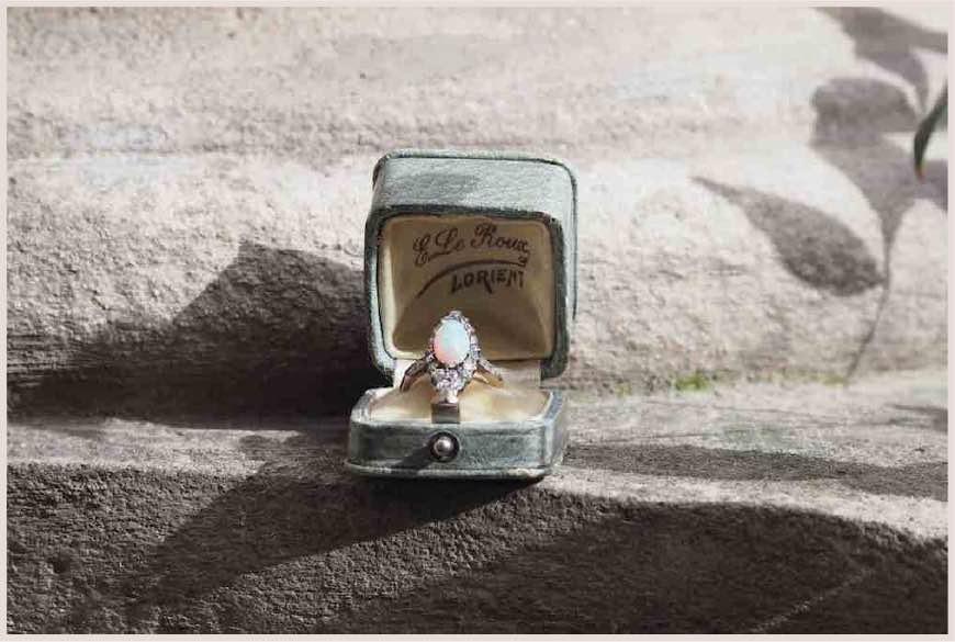 achat bague opale ancienne