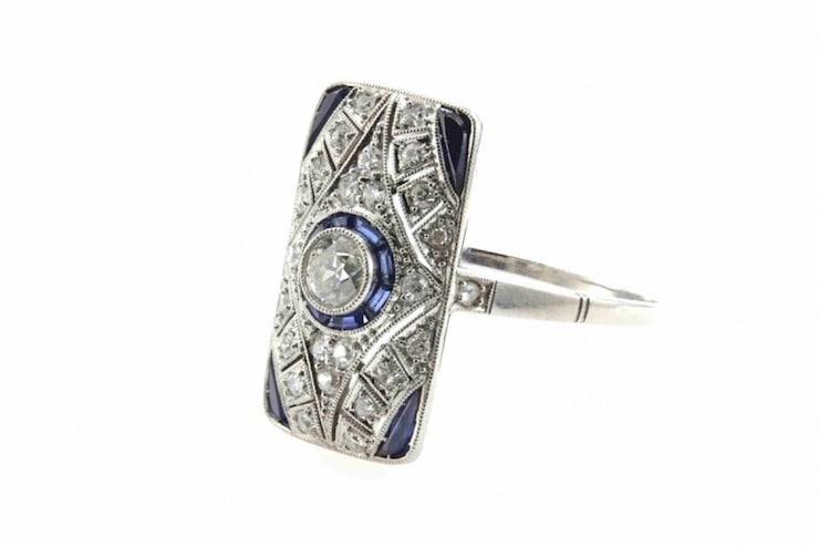 saphir et diamants anciens
