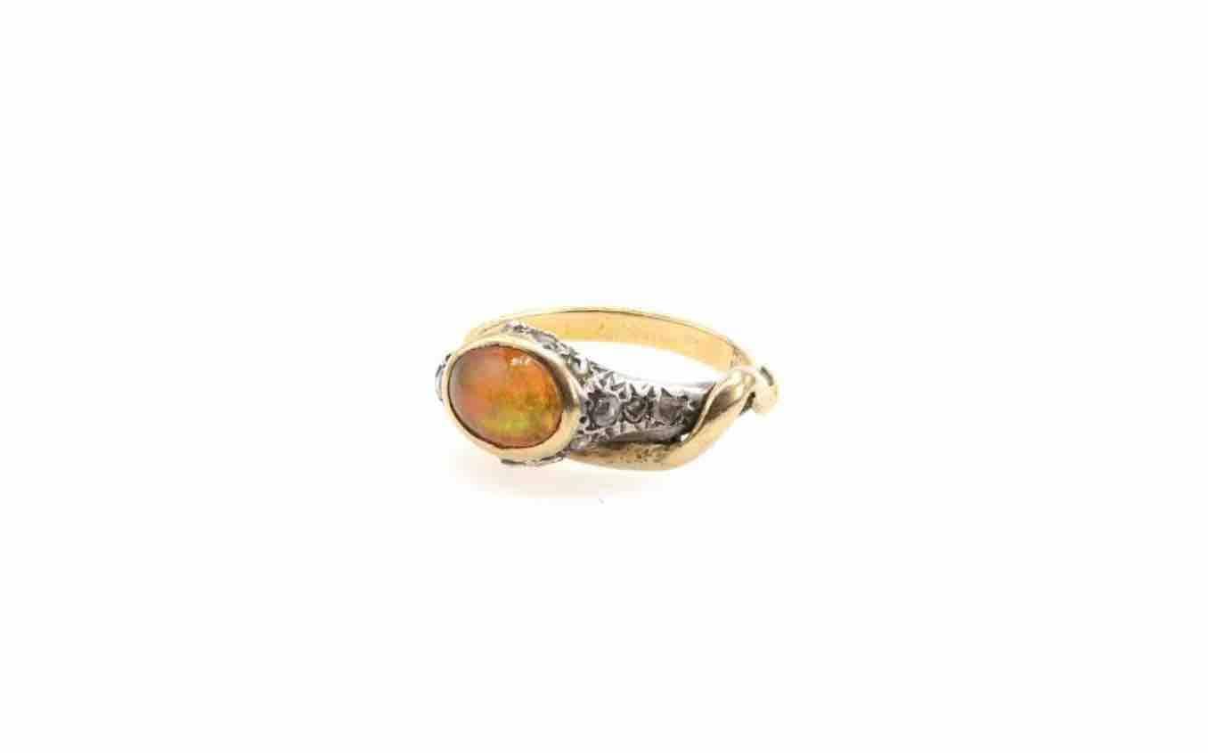 achat bague serpent opale