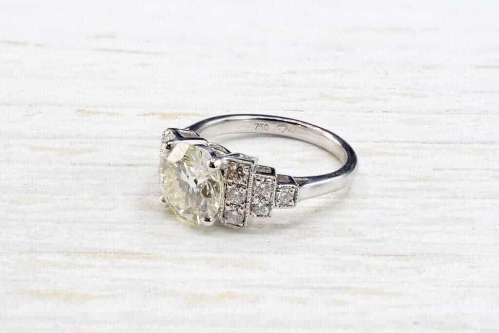 rachat bague solitaire diamants