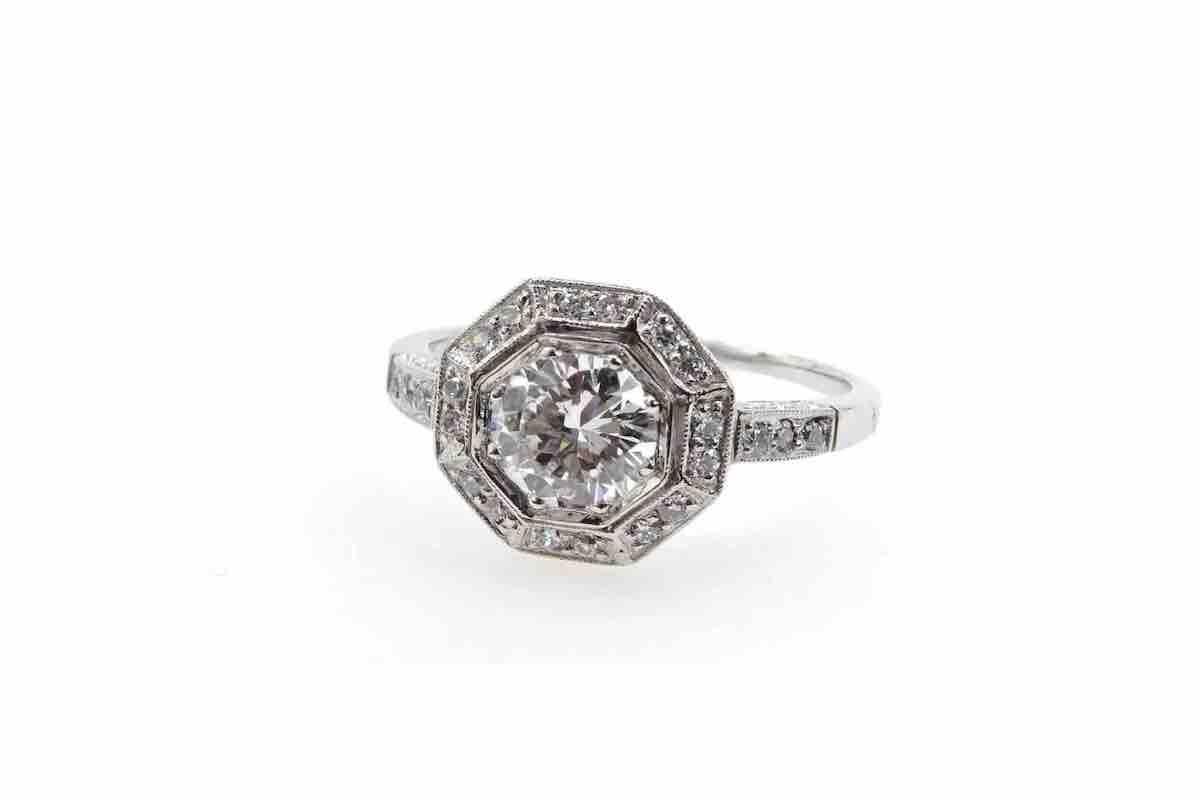 bague fiançailles avec diamants