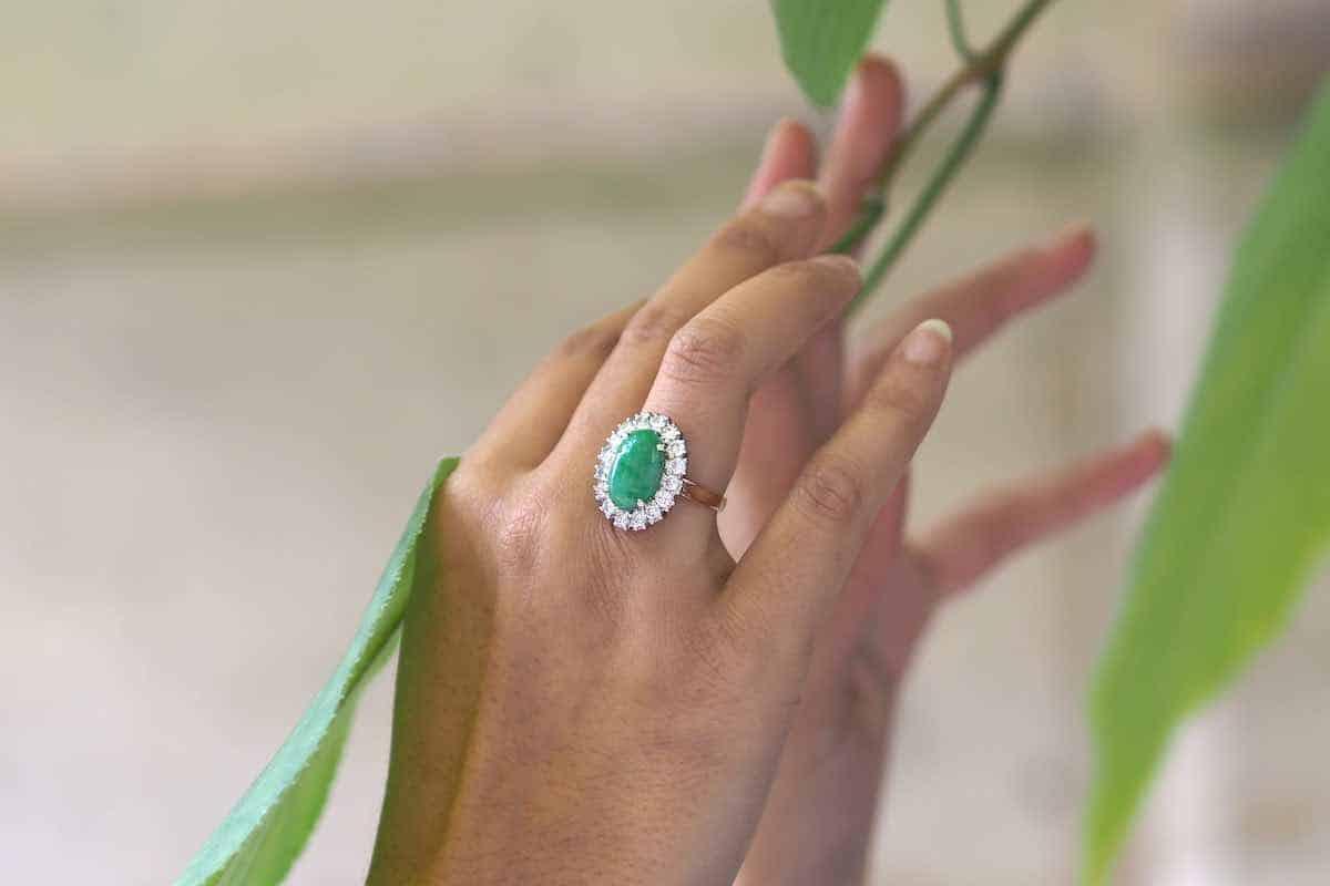 bague pierre de jade