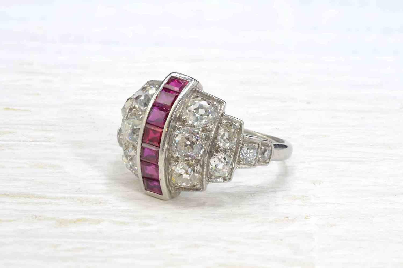 rachat bague diamants et rubis