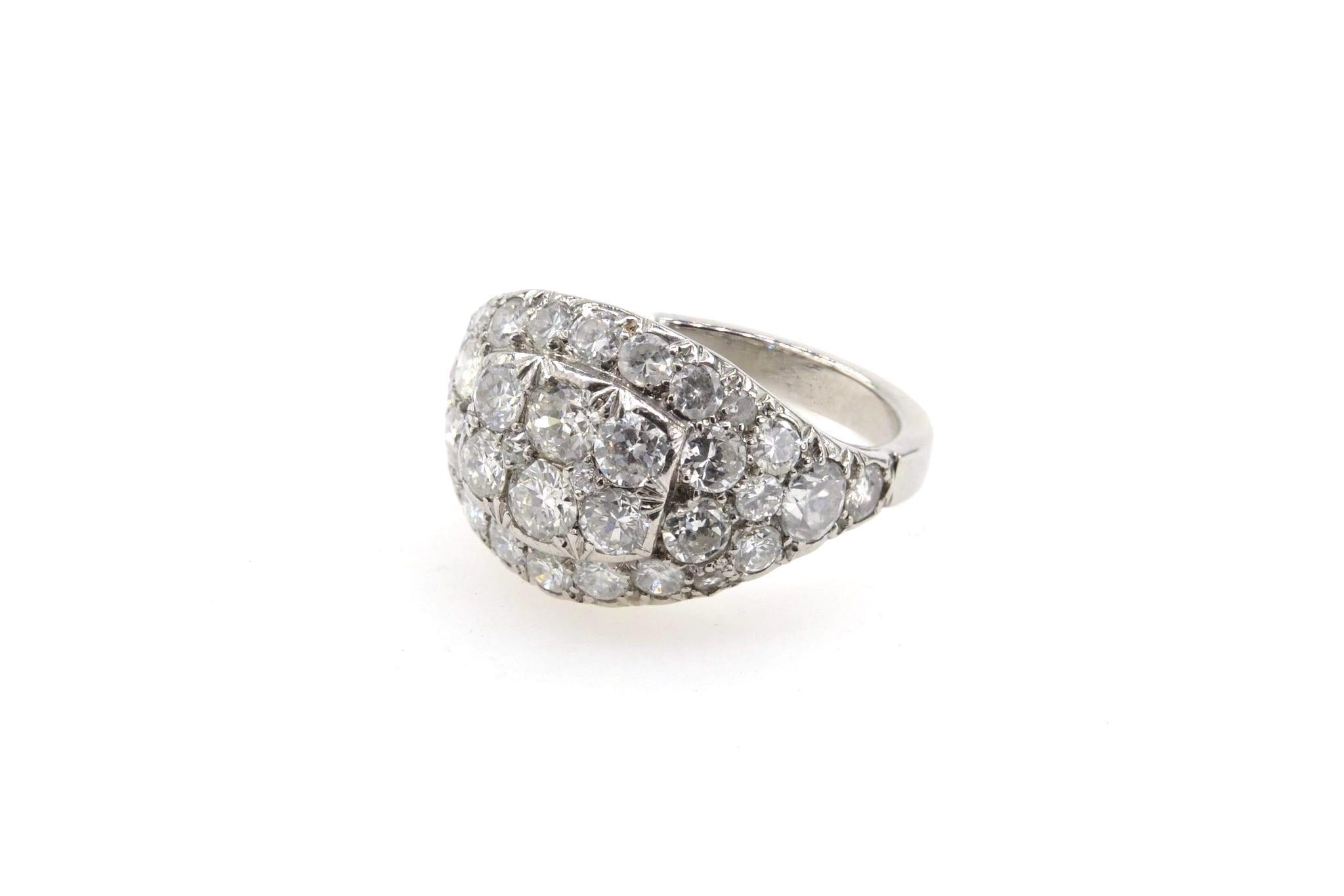 rachat bague bandeau diamants taille brillant ancienne