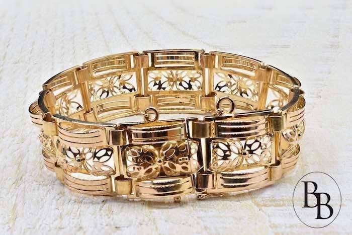 bracelet tank or jaune