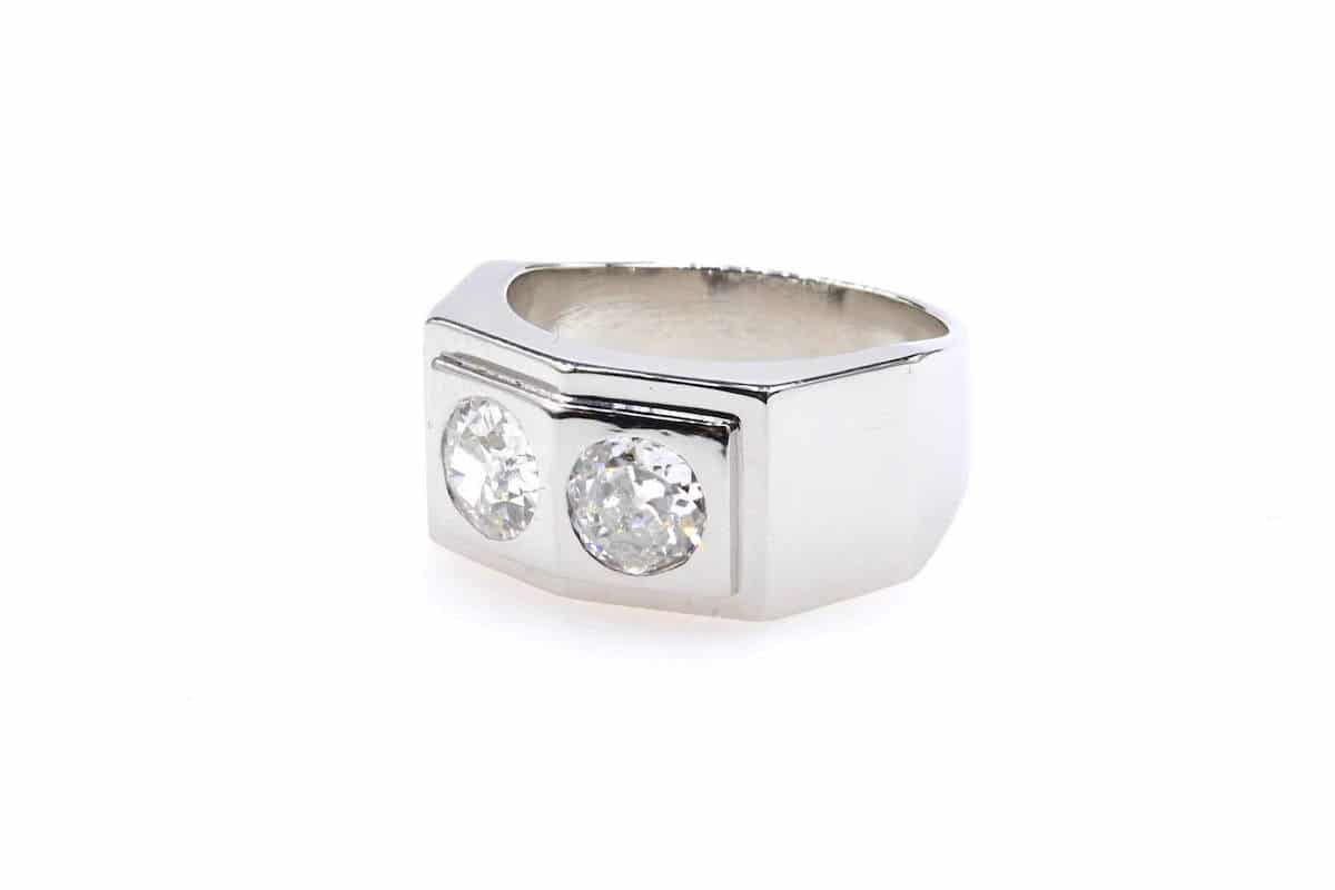 bague fiançailles diamants epoque art deco