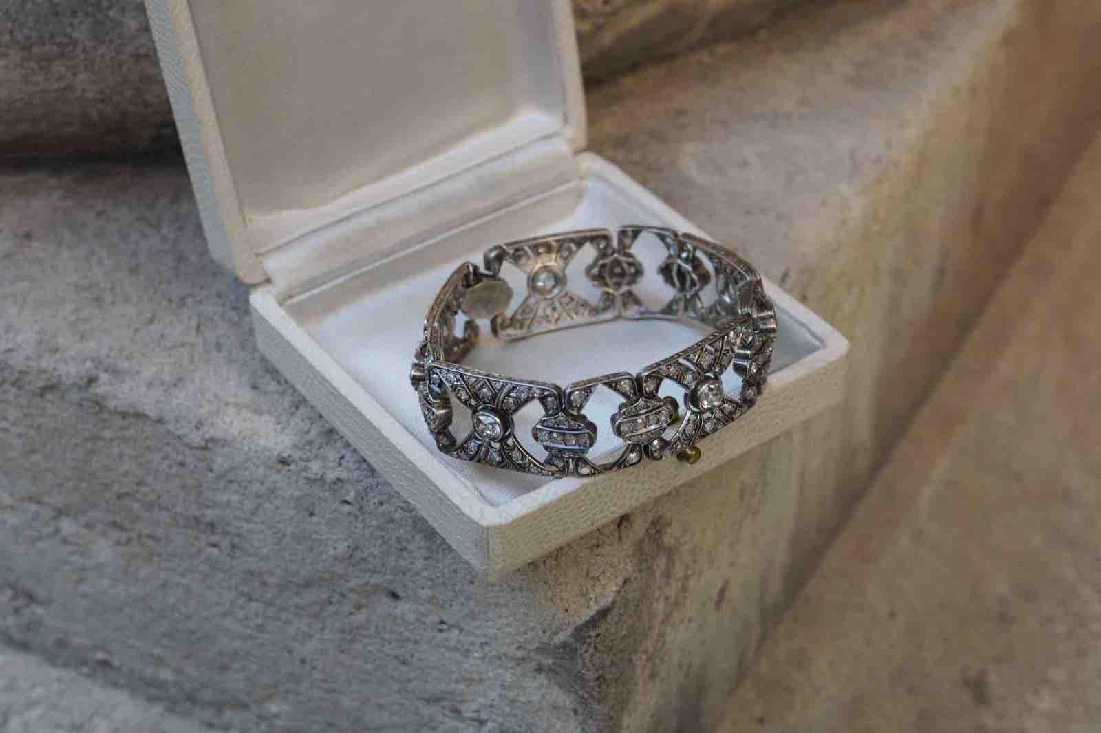 bracelet diamants belle epoque