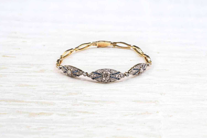 bracelet ancien saphir
