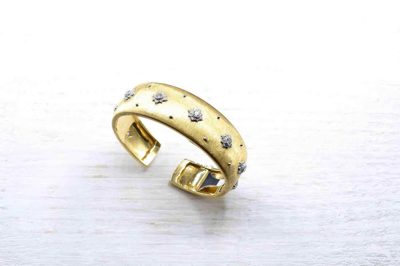 revendre bracelet buccellati or et diamants