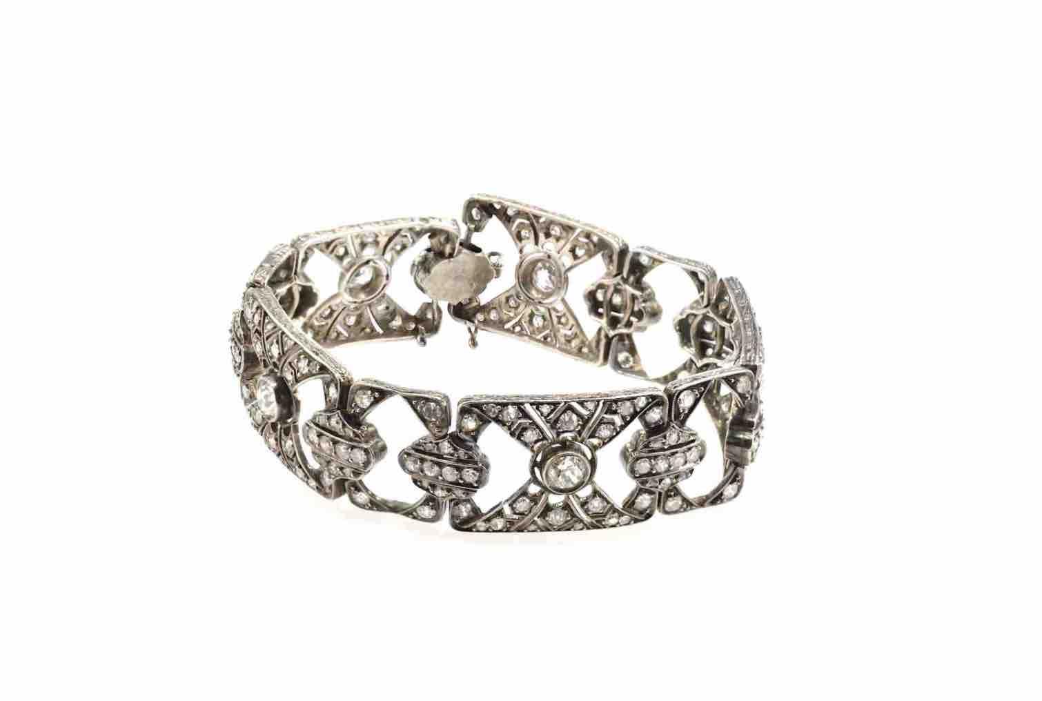 bracelet diamants epoque XIXeme