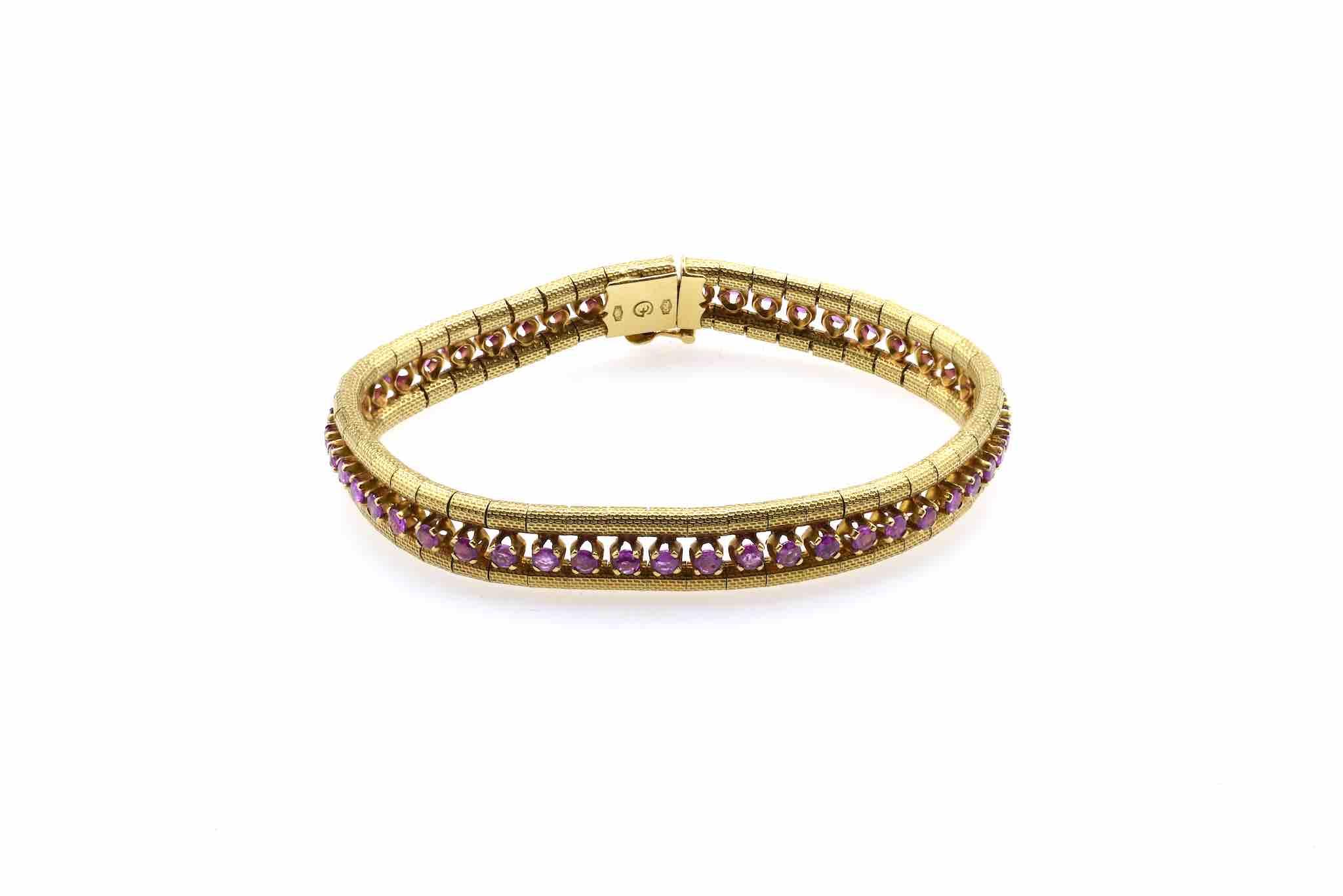 rachat de bracelet rubis en or 18k