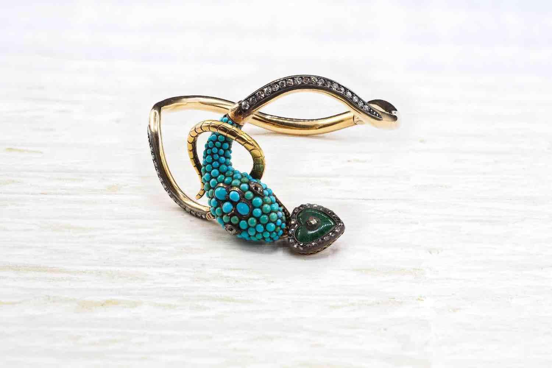 rachat bracelet serpent turquoises