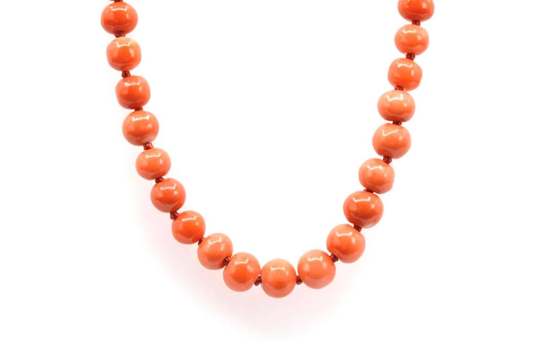 vendre collier perles de corail