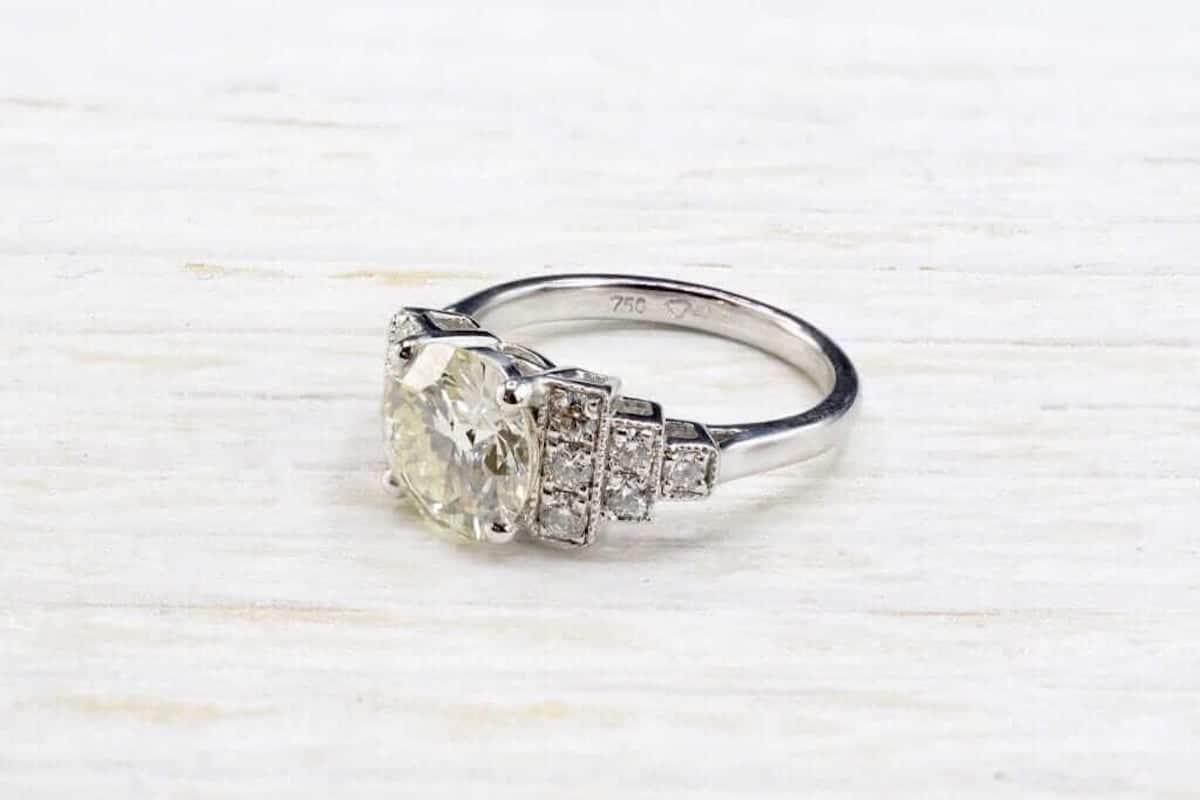 bague mariage diamants anciens